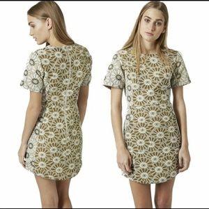 TopShop Daisy Jacquard Dress Size 2